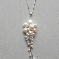 PEARL TENDRIL NECKLACE Christine Elizabeth Jewelry™