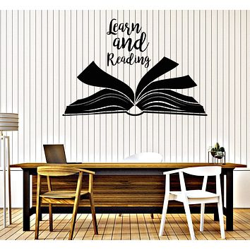 Wall Vinyl Decal Words of Edification Learn and Reading School Library Decor Unique Gift z4688