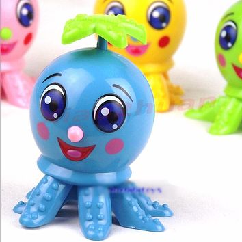 New Funny Cartoon Animal Octopus Design Wind Up Clockwork Children Toys