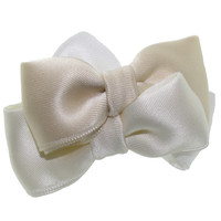 SCC3B Flower Girl Bridal Satin Bow Clip