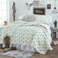 Cowgirl Cactus Quilted Bedding Collection