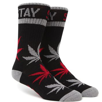 DGK Stay Smokin' Crew Socks - Mens Socks - Black - One
