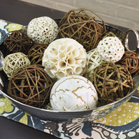 Dried Twig Orbs - 18 Assorted