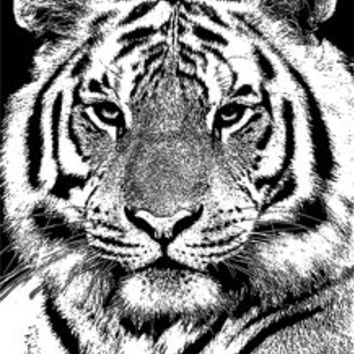 white tiger face png Digital Image Download jungle animal art abstract for cards, t shirts, totes etc...