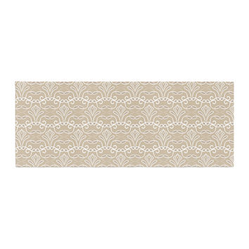 "Julia Grifol ""Soft Deco"" Brown Tan Bed Runner"