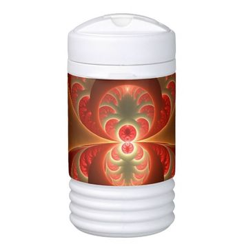 Luminous abstract modern orange red Fractal Cooler