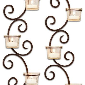 Classic Wall Sconces Rustic/Clear/Set of 2