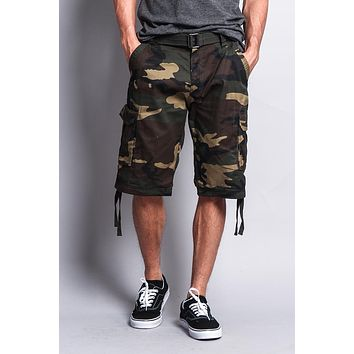 Camo Ripstop Belted Cargo Shorts 9AP30 - S1B