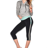 Flat Waist Yoga Crop Leggings - PINK - Victoria's Secret