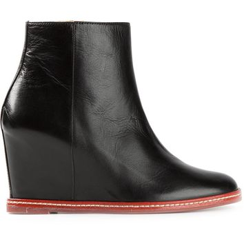 MM6 By Maison Martin Margiela ankle wedge boots