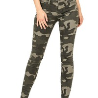 Camouflage Ankle Skinnys