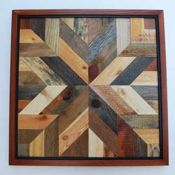 Wood Wall Art, Rustic Wall Decor, Wood Wall Decor, Wood Decor, Star Quit Design Wall Art, Rustic Home Decor, Wood Art, Quilt Block