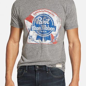 Men's Retro Brand 'PBR' Graphic T-Shirt ,