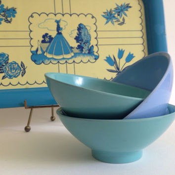 Boonton Melamine Bowls Melmac Boontonware Mid Century Kitchen Picnic Retro Kitchen Camping Glamping Plastic Bowls 50's Dinnerware