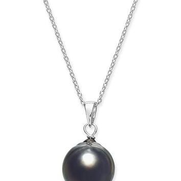 Macy's Cultured Baroque Black Tahitian Pearl (11mm) 18
