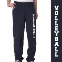 Volleyball Fleece Sweatpants Adult Small on Navy