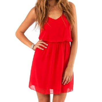 New Women Elegant Sexy Chiffon Casual Party Dinner Cocktail Mini Slip Dress = 1645726404
