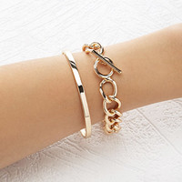 Chained Bangle Set