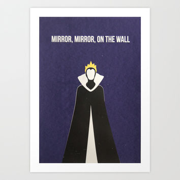 Disney Villain - Evil Queen Art Print by Tessa Simpson