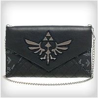 Quilted Zelda Chain Envelope Wallet - Spencer's
