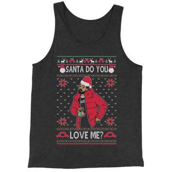 Santa, Do You Love Me Ugly Christmas Jersey Tank Top for Men