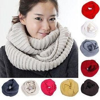 Womens Cowl Neck Winter Circle Scarf