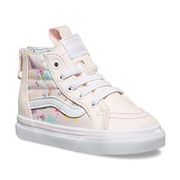 Vans Toddler SK8-Hi Zip (Glitter Pegasus) Heavenly Pink/True White VN0A32R3U07 Toddler Shoes