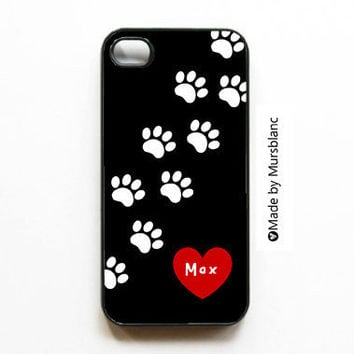 Custom Iphone Case   Name your pet Dog Lovers Animal by MursBlanc