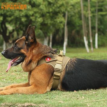EXCELLENT ELITE SPANKER Tactical Dog Training Vest Dog Clothes Molle Pet Vest Harness Training Dog Harness Hunting Accessories
