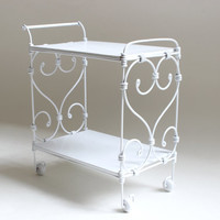 1/6 scale Metal Tea Cart / Serving Cart for dolls (Blythe, Barbie, Momoko, Bratz).