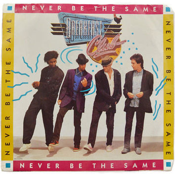 Vintage 80s Breakfast Club Never Be the Same New Wave DJ Promo Picture Sleeve 45 RPM 7-inch Single Record Vinyl