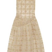 Simone Rocha - Metallic-embroidered tulle midi dress