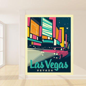 Anderson Design Group's Las Vegas Mural wall decal