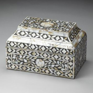 Mother of Pearl Stone Storage Box