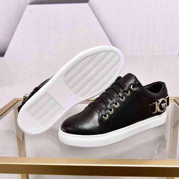Versace Black Fashion Casual Women Men Sneakers Sport Shoes