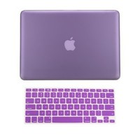 "TopCase 2 in 1 Rubberized PURPLE Hard Case Cover and Keyboard Cover for Macbook Pro 13-inch 13"" (A1278 / with or without Thunderbolt) with TopCase Mouse Pad"