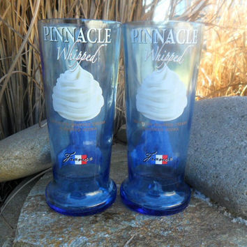 Recycled Pinnacle Vodka Glass Tumblers 2 by BottleCrafters on Etsy