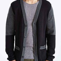 The Narrows Colorblocked Side-Zip Cardigan- Black