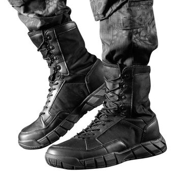 Spring Men's Outdoor Sports Climbing Hiking Ultralight Breathable High Tube Shoes Combat Military Desert Tactical Boots Sneakers