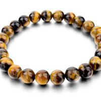 "Tiger Eye Love Brand Buddha Natural Stone Bracelets "" FREE SHIPPING"""