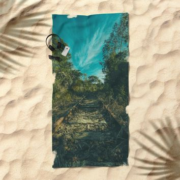 Abandoned Beach Towel by Mixed Imagery