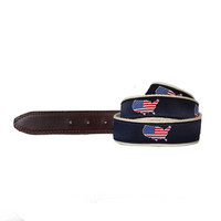 America Traditional Belt Red | State Traditions