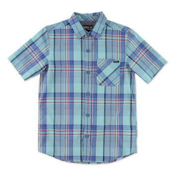 'Emporium' Plaid Woven Shirt (Little Boys)