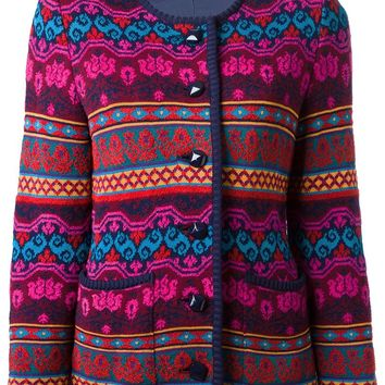 Yves Saint Laurent Vintage patterned cardigan