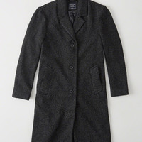 Womens Long Wool-Blend Coat | Womens New Arrivals | Abercrombie.com