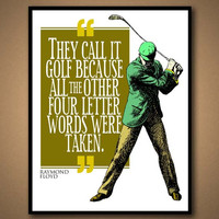 Sports Quote Print - Golf 2