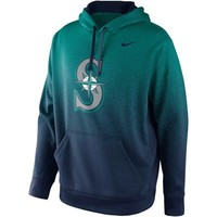 Nike Seattle Mariners Mezzo Fade Performance Hoodie - Green/Navy Blue