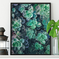 Succulent Art Print - Printable Art - Succulent Print Download - Home Decor - Home Print Wall Art - Wall Art Prints - Home Wall Art Vertical