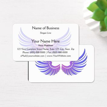 Blue Wings with Magenta Embellishment Business Card