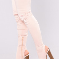 Zara Peeping Boot - Nude